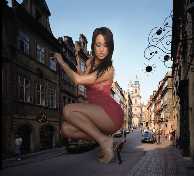 """Prague 50 Foot Woman"". (Photo by Garcia Accasbel)"