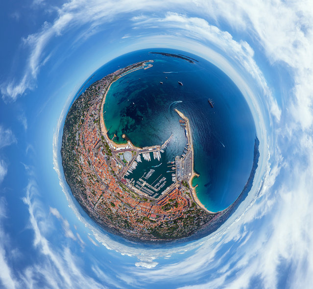 The French Riveria of Cannes, France. (Photo by Airpano/Caters News)