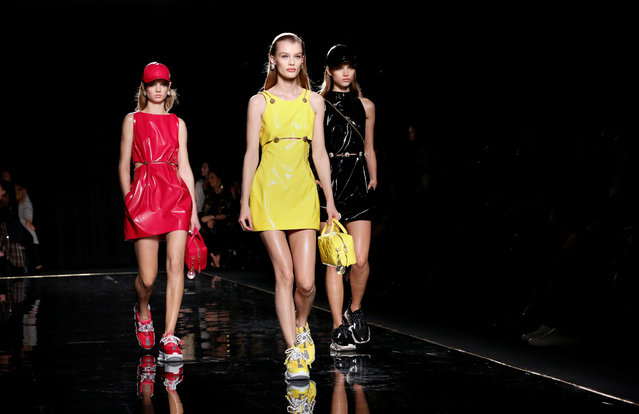 Models present Versace creations at the Versace Pre-Fall 2019 Runway Show on December 2, 2018 in New York City. (Photo by Allison Joyce/Reuters)