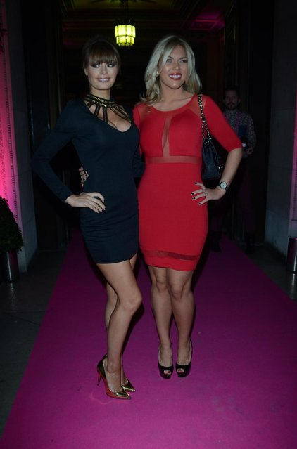 Chloe Simms and Frankie Essex arriving at the 2013 Lingerie Awards at Freemasons Hall in London, UK, on December 04, 2013. (Photo by INFphoto.com/LaPresse)
