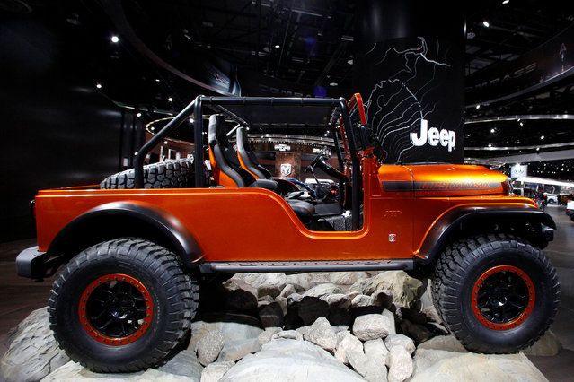 The Jeep CJ66 concept vehicle displayed during the North American International Auto Show in Detroit, Michigan, U.S., January 10, 2017. (Photo by Brendan McDermid/Reuters)