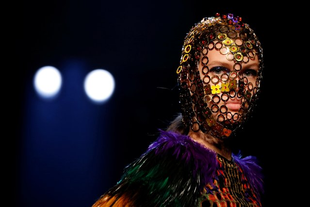 A model presents a creation by designer Jean Paul Gaultier as part of his Haute Couture Fall/Winter 2019/20 collection show in Paris, France, July 3, 2019. (Photo by Regis Duvignau/Reuters)