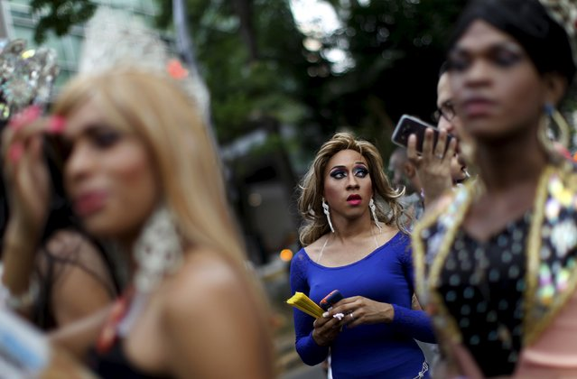 Revelers take part in a Gay Pride parade in Panama City June 27, 2015. (Photo by Carlos Jasso/Reuters)