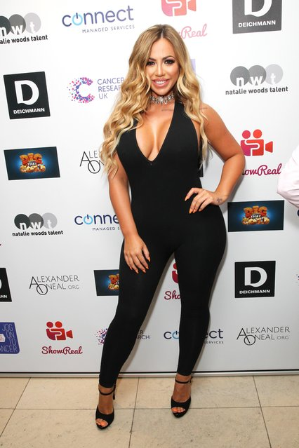 Holly Hagan attends James Ingham's Jog-On to Cancer part 5 at Kensington Roof Gardens on April 12, 2017 in London, England. (Photo by Fame Flynet)