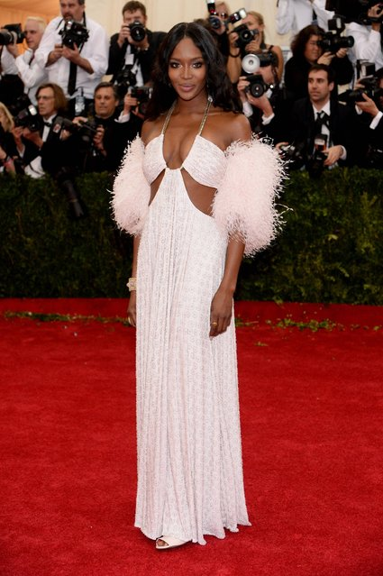 "Naomi Campbell attends The Metropolitan Museum of Art's Costume Institute benefit gala celebrating ""Charles James: Beyond Fashion"" on Monday, May 5, 2014, in New York. (Photo by Charles Sykes/Invision/AP Photo)"