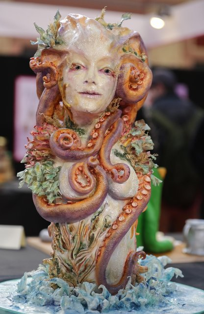 Cake made by Jay Humphris on display at the Cake International show at Alexandra Palace in London, UK on April 22, 2017. (Photo by Dinendra Haria/Rex Features/Shutterstock)