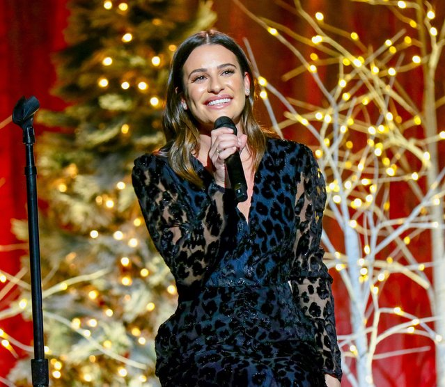 Lea Michele is seen performing at Concert Hall, New York Society for Ethical Culture in New York City on December 19, 2019. (Photo by The Mega Agency)