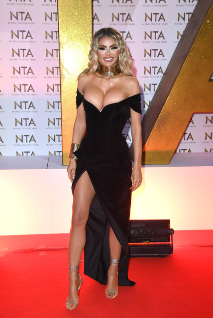 Chloe Sims attends the National Television Awards 2020 at The O2 Arena on January 28, 2020 in London, England. (Photo by Anthony Harvey/Rex Features/Shutterstock)