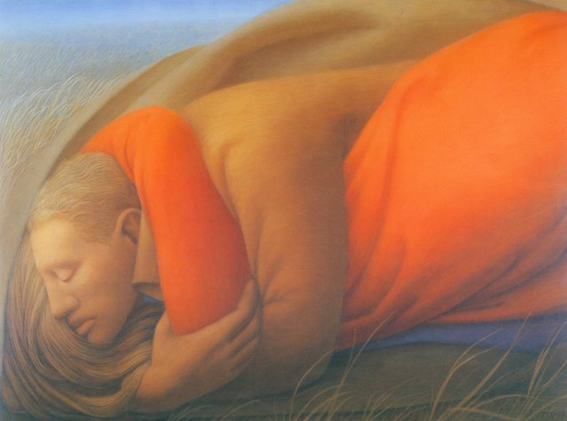 Lovers I. Artwork by George Tooker