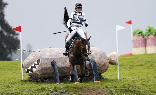 Britain's Nicola Wilson riding One Two Many jumps the Haggis, Neeps and Tatties fence in the cross country event of FEI European Eventing Championship at Blair Castle, Scotland, Britain, September 12, 2015. (Photo by Russell Cheyne/Reuters)