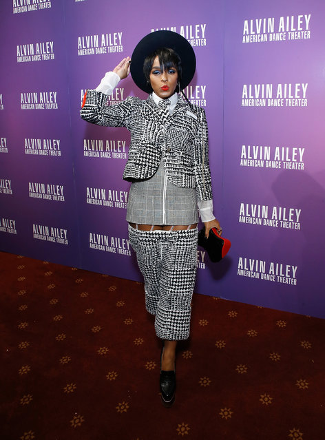 Actress/singer Janelle Monae attends Alvin Ailey's 2017 opening night Gala at New York City Center on November 29, 2017 in New York City. (Photo by John Lamparski/Getty Images)