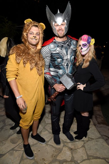 Thor Richardson (center) and guests attend the Casamigos Halloween Party at a private residence on October 28, 2016 in Beverly Hills, California. (Photo by Michael Kovac/Getty Images for Casamigos Tequila)