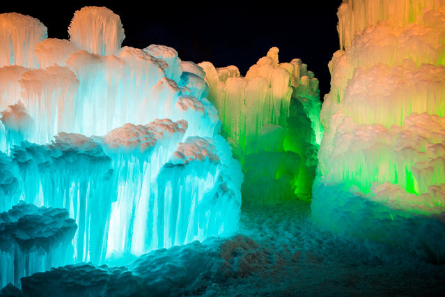 The magical ice castle. (Photo by Sam Scholes/Caters News)