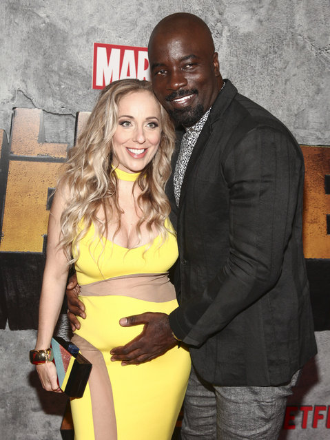 """Iva Colter, left, and Mike Colter, attend the premiere of the Netflix original series Marvel's """"Luke Cage"""" season two at The Edison Ballroom on Thursday, June 21, 2018, in New York. (Photo by Andy Kropa/Invision/AP Photo)"""