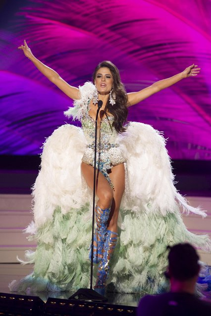 Melissa Gurgel, Miss Brazil 2014, debuts her national costume during the Miss Universe Preliminary Show in Miami, Florida in this January 21, 2015 handout photo. (Photo by Reuters/Miss Universe Organization)