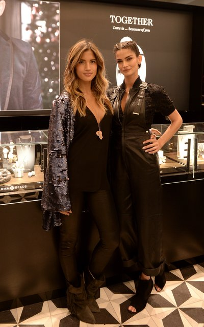 Rocky Barnes and Shermine Shahrivar attend the Thomas Sabo flagship boutique grand opening on November 9, 2016 in New York City. (Photo by Andrew Toth/Getty Images for Thomas Sabo)