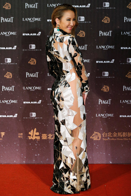 Singer Coco Lee poses on the red carpet at the 53rd Golden Horse Awards in Taipei, Taiwan November 26, 2016. (Photo by Tyrone Siu/Reuters)