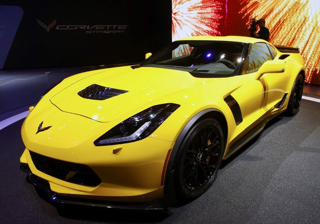 A Chevrolet Corvette Z06 is seen during the second press day ahead of the 85th International Motor Show in Geneva March 4, 2015.  REUTERS/Arnd Wiegmann