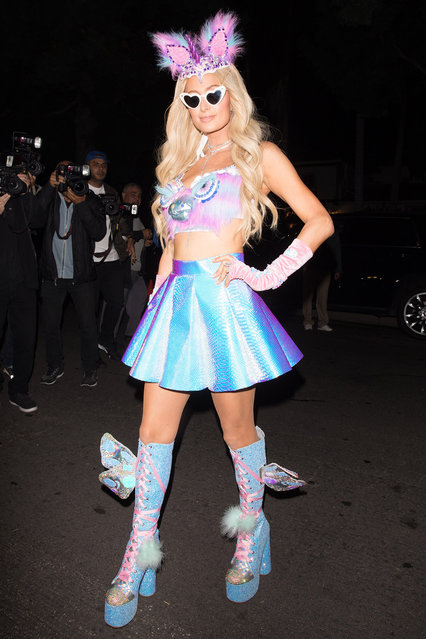 Paris Hilton is spotted arriving to the Casamigos Halloween Party in Beverly Hills on October 27, 2018. (Photo by Mr. Canon/Splash News and Pictures)