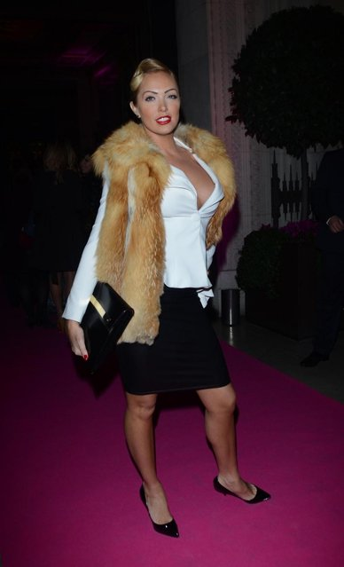 Aisleyne Horgan Wallace arriving at the 2013 Lingerie Awards at Freemasons Hall in London, UK, on December 04, 2013. (Photo by INFphoto.com/LaPresse)