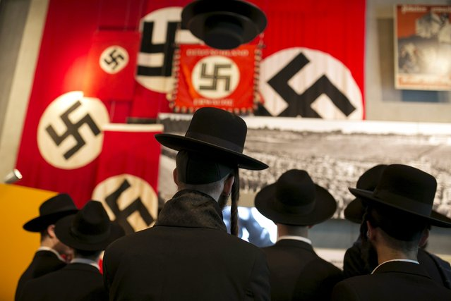 Ultra-orthodox Jews visit Yad Vashem's Holocaust History Museum in Jerusalem April 14, 2015. Beginning Wednesday night, Israel marks its annual memorial day commemorating the six million Jews killed by the Nazis during World War Two. (Photo by Baz Ratner/Reuters)