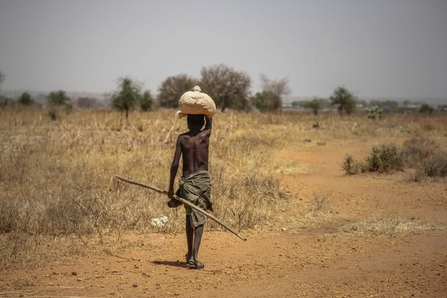 A young boy in Napak district, one of the hungriest ones in Karamoja, Uganda, February, 2017. (Photo by Sumy Sadurni/Barcroft Images)