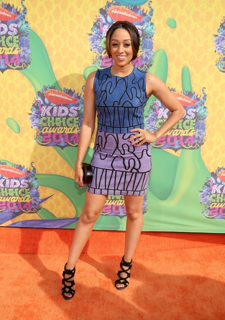 Actress Tia Mowry-Hardrict attends Nickelodeon's 27th Annual Kids' Choice Awards held at USC Galen Center on March 29, 2014 in Los Angeles, California. (Photo by Mark Davis/Getty Images)