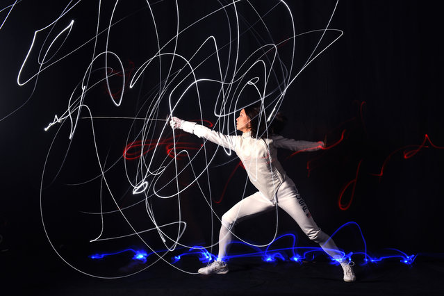 Fencer Lee Kiefer poses for a portrait during the Team USA Tokyo 2020 Olympics shoot on November 20, 2019 in West Hollywood, California. (Photo by Harry How/Getty Images)