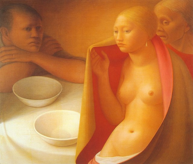Table. Artwork by George Tooker
