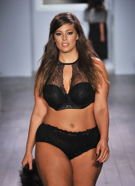 A model walks down the runway during the Addition Elle/Ashley Graham Lingerie Collection fashion show during the Spring 2016 Style 360 on September 15, 2016 in New York City. (Photo by Fernando Leon/Getty Images)
