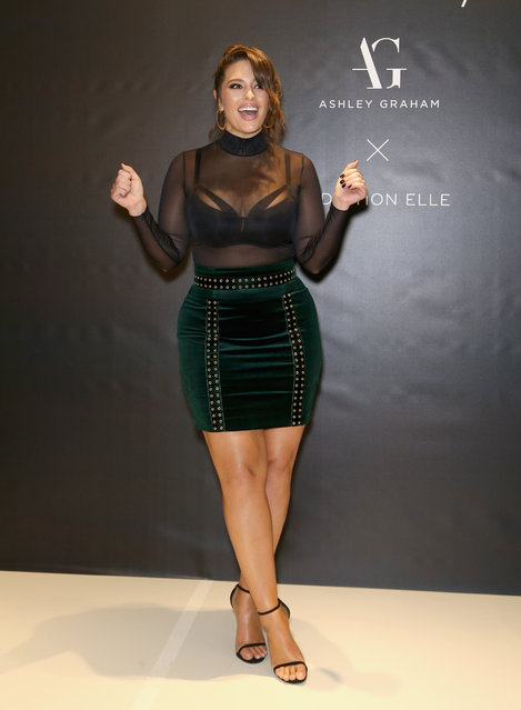 Model and designer Ashley Graham arrives at her latest lingerie collection launch at Macy's at the Fashion Show mall on November 29, 2017 in Las Vegas, Nevada. (Photo by Gabe Ginsberg/Getty Images)