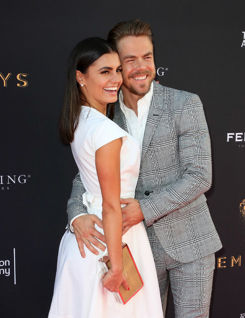 TV personality Hayley Erbert (L) and dancer/TV personality Derek Hough attend the Television Academy's Choreography Peer Group Celebration at Saban Media Center on August 27, 2017 in North Hollywood, California. (Photo by David Livingston/Getty Images)