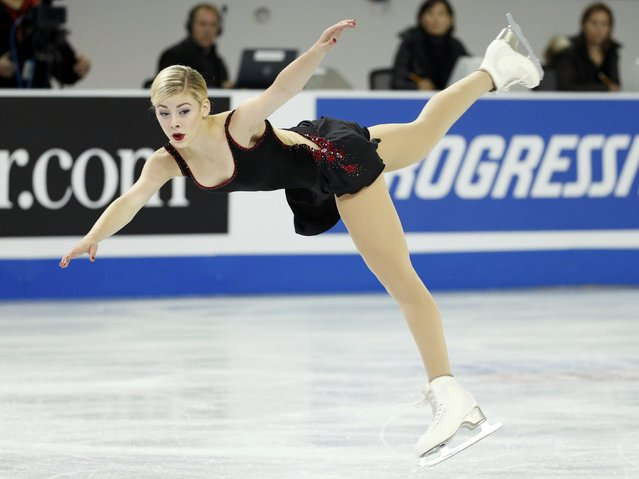 Gracie Gold of the U.S. performs during the ladies' singles short program at the Skate America figure skating competition in Milwaukee, Wisconsin October 23, 2015. (Photo by Lucy Nicholson/Reuters)