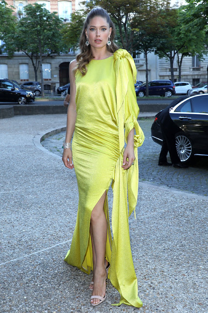 Model Doutzen Kroes arrives at the launch of Piaget's new sunlight escape high jewellery collection at Palais D'iena on June 18, 2018 in Paris, France. (Photo by Pierre Suu/GC Images)