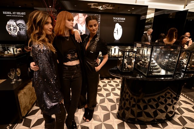 Rocky Barnes, Sasha Mart, and Shermine Shahrivar attend the Thomas Sabo flagship boutique grand opening on November 9, 2016 in New York City. (Photo by Andrew Toth/Getty Images for Thomas Sabo)
