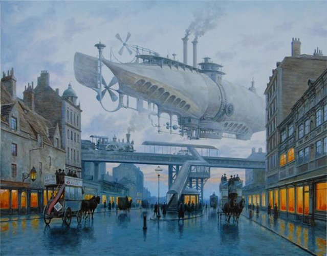 Steampunk World By Vadim Voitekhovitch