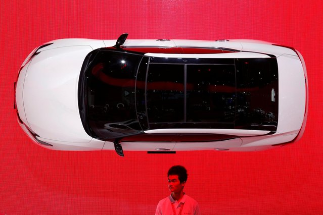 A Maxima by Nissan is displayed on a wall at China (Guangzhou) International Automobile Exhibition in Guangzhou, China November 18, 2016. (Photo by Bobby Yip/Reuters)