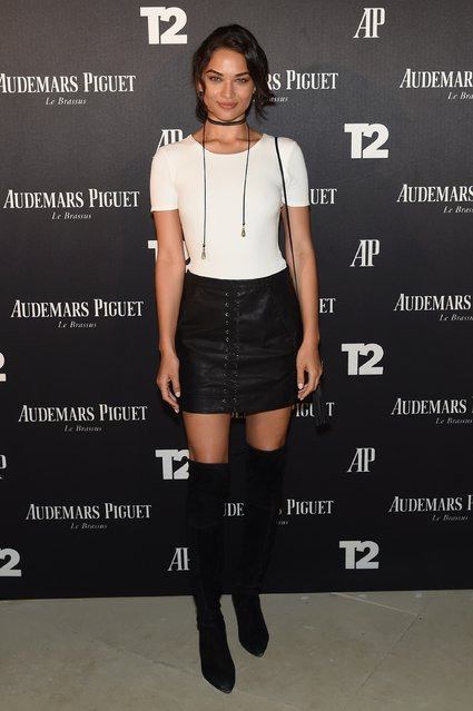 "Shanina Shaik attends the Miami Beach Kickoff Party at Audemars Piguet Art Commission ""Reconstruction Of The Universe"" by Sun Xun hosted by Take-Two Interactive at Oceanfront Miami Beach on November 30, 2016 in Miami, Florida. (Photo by Jamie McCarthy/Getty Images for Take-Two Interactive)"