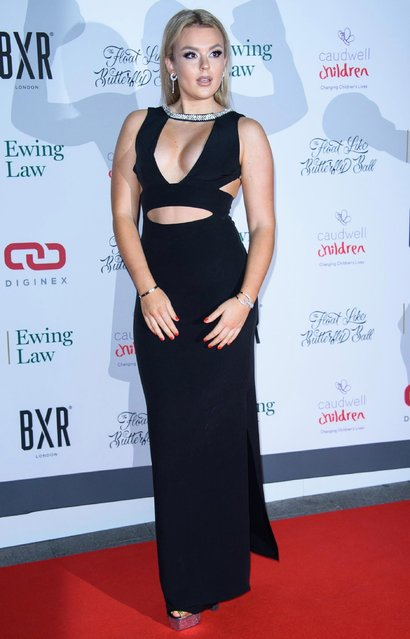 Tallia Storm attends the 2018 Float Like A Butterfly Ball at The Grosvenor House Hotel on October 19, 2018 in London, England. (Photo by Joe Maher/Getty Images)