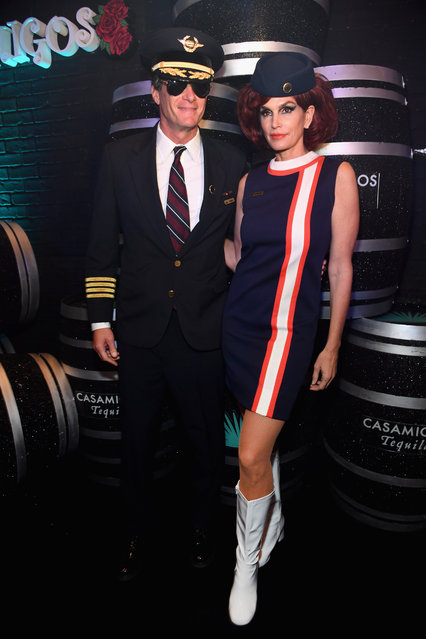 Rande Gerber (L) and Cindy Crawford attend Casamigos Halloween party at CATCH Las Vegas at ARIA Resort & Casino on October 27, 2018 in Las Vegas, Nevada. (Photo by Kevin Mazur/Getty Images for Casamigos)