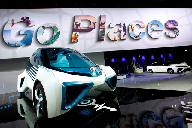 The Toyota FCV Plus hydrogen fuel cell concept vehicle is seen during the North American International Auto Show in Detroit, Michigan, U.S., January 10, 2017. (Photo by Brendan McDermid/Reuters)