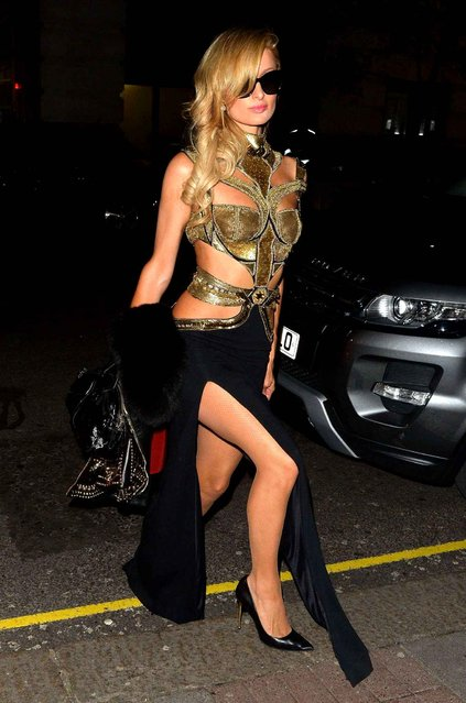 Paris Hilton arriving at Tape nightclub on January 20, 2017 in London, England. (Photo by Palace Lee/Rex Features/Shutterstock)