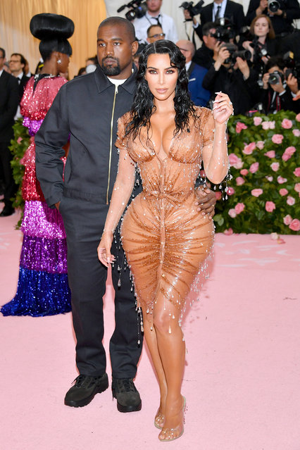 Kanye West and Kim Kardashian attend The 2019 Met Gala Celebrating Camp: Notes on Fashion at Metropolitan Museum of Art on May 06, 2019 in New York City. (Photo by Dia Dipasupil/FilmMagic)