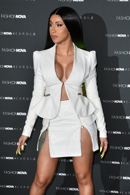 Cardi B is seen as Fashion Nova Presents: Party With Cardi at Hollywood Palladium on May 9, 2019 in Los Angeles, California. (Photo by The Mega Agency)