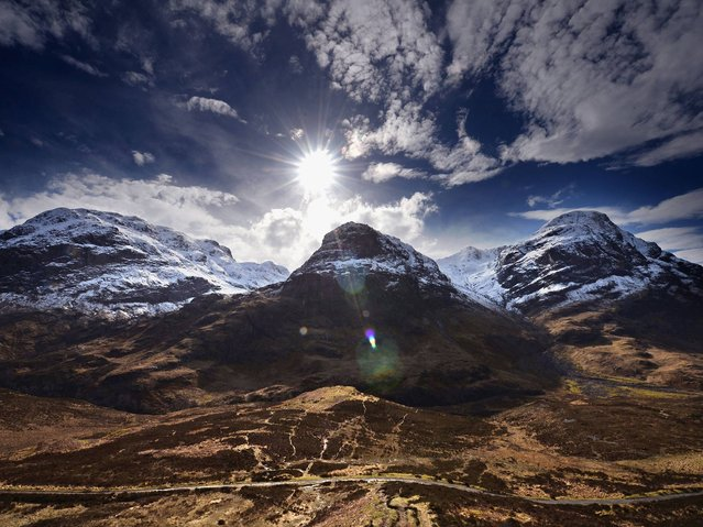 A view of the Three Sisters in Glen Coe on March 24, 2014 in Glen Coe, Scotland. A referendum on whether Scotland should be an independent country will take place on September 18, 2014. (Photo by Jeff J. Mitchell/Getty Images)