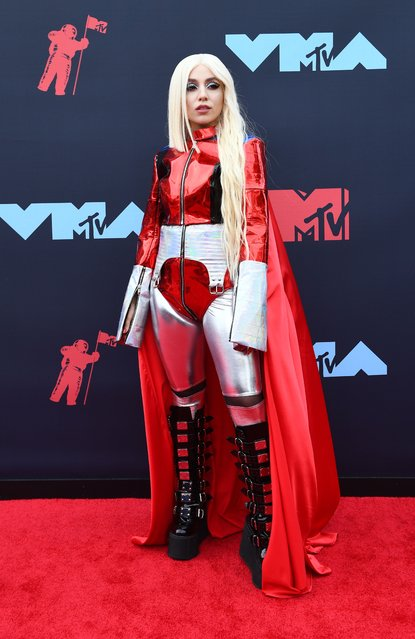 US singer Ava Max arrives for the 2019 MTV Video Music Awards at the Prudential Center in Newark, New Jersey on August 26, 2019. (Photo by Johannes Eisele/AFP Photo)