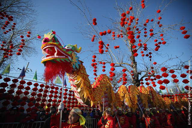 China Celebrates The Year Of The Dragon Spring Festival