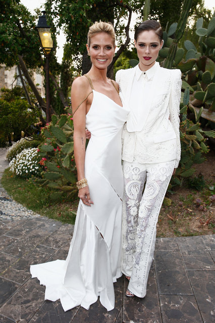 Heidi Klum and Coco Rocha attend the Puerto Azul Experience at the 67th Annual Cannes Film Festival on May 21, 2014 in Cannes, France. (Photo by Andreas Rentz/Getty Images)