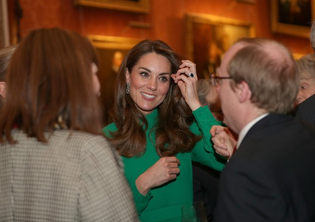 Catherine, Duchess of Cambridge attends a reception to mark 70 years of the NATO Alliance, hosted by Queen Elizabeth at Buckingham Palace, in London, December 3, 2019. (Photo by Yui Mok/Pool via Reuters)