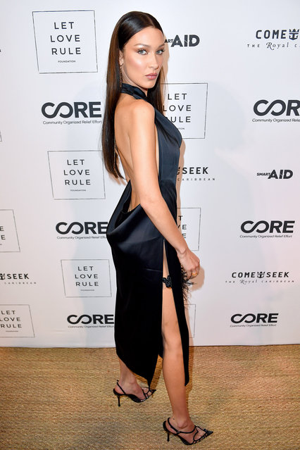 Bella Hadid attends the Core x Let Love Rule Benefit during Art Basel Miami 2019 on December 05, 2019 in Miami, Florida. (Photo by Jason Koerner/Getty Images)